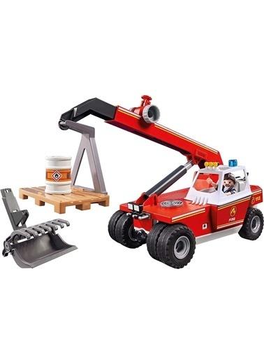 Playmobil Şlaymobil 9465 Sşielzeug-Feuerwehr-Teleskoşlader Renkli